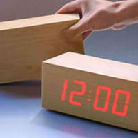 Minimalist Led Wood Desktop Clock