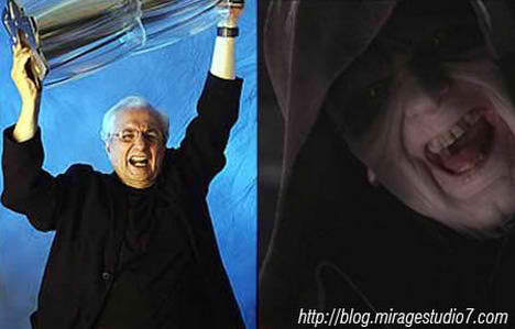 Frank Gehry Darth Sidious Famous Architects Separated at Birth