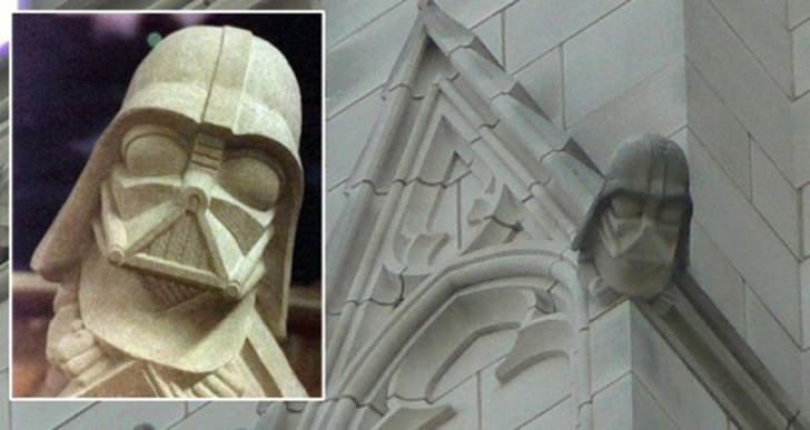 Gargoyles evil spirits darth vader washington national cathedral