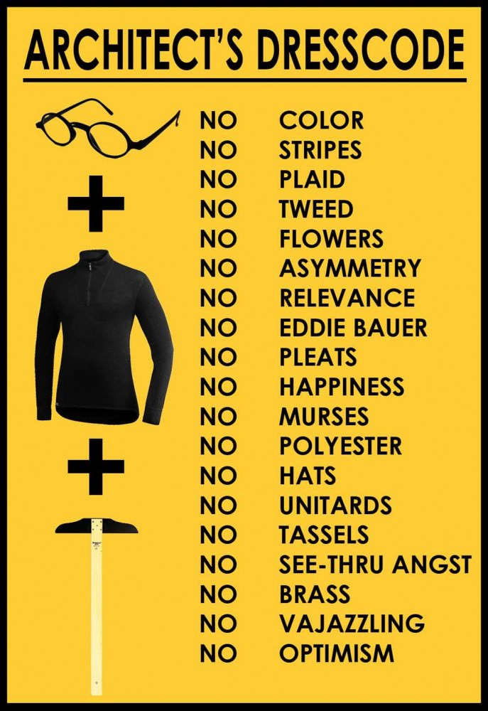 architect dress code sign