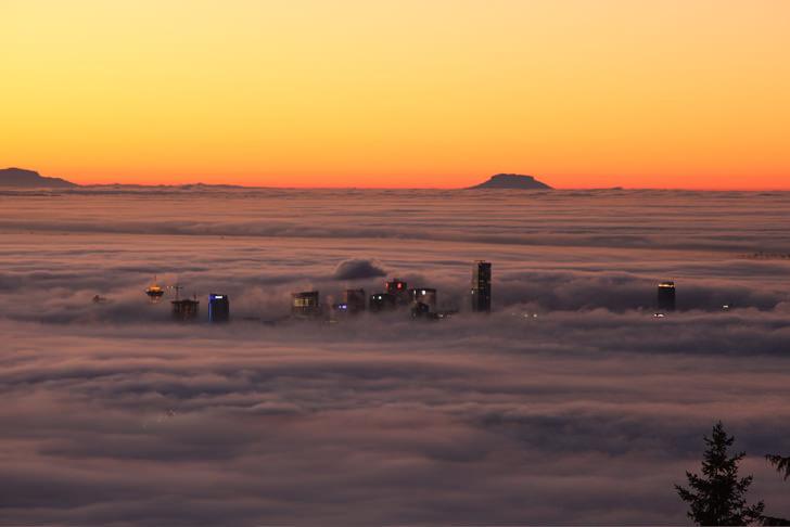 vancouver Skyscrapers cloud clouds