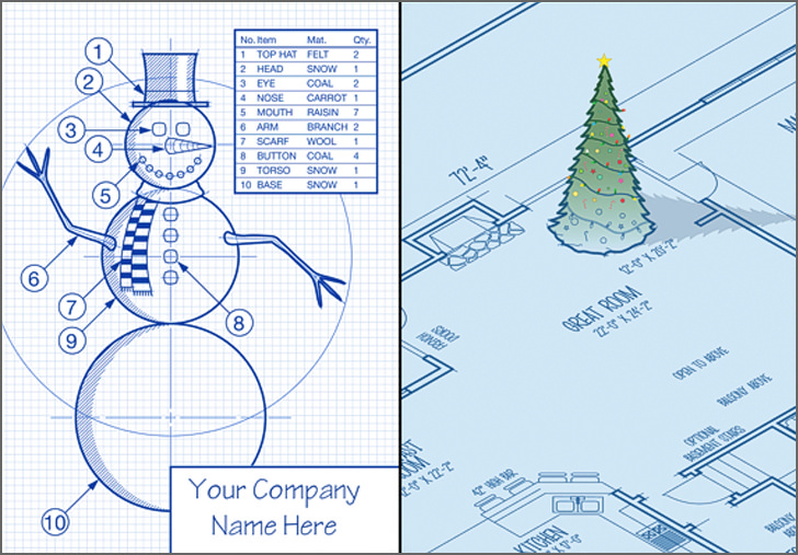 12 creative christmas card ideas for architects for Architecture and design company