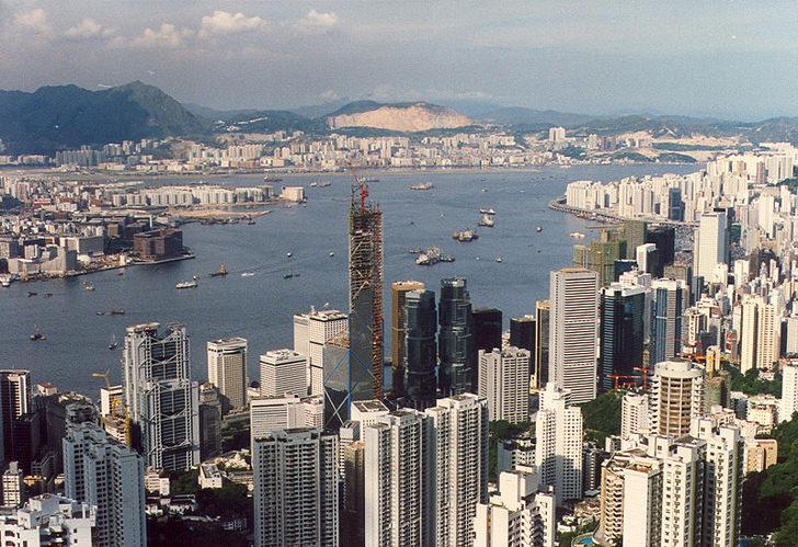 hong kong tower landscape skycrapper