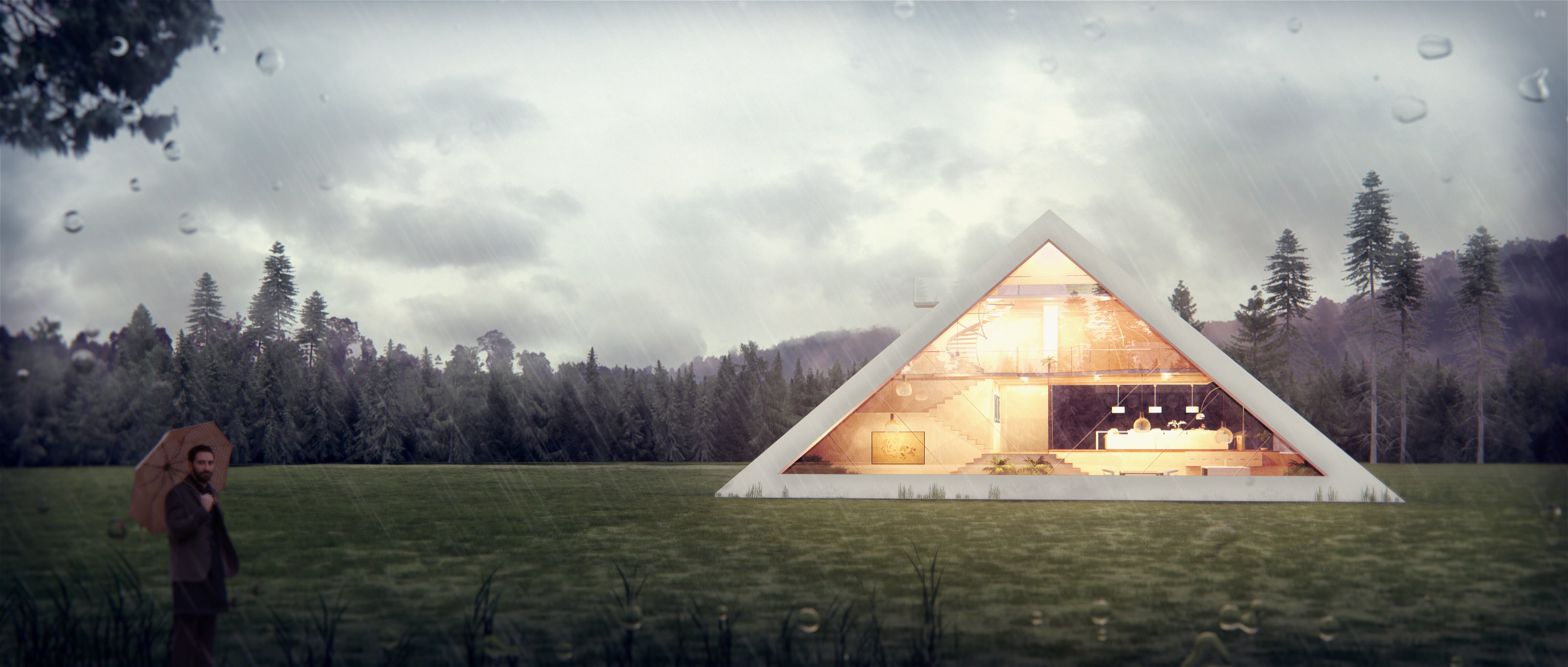 Pyramid House An Architectral Visualization By Juan