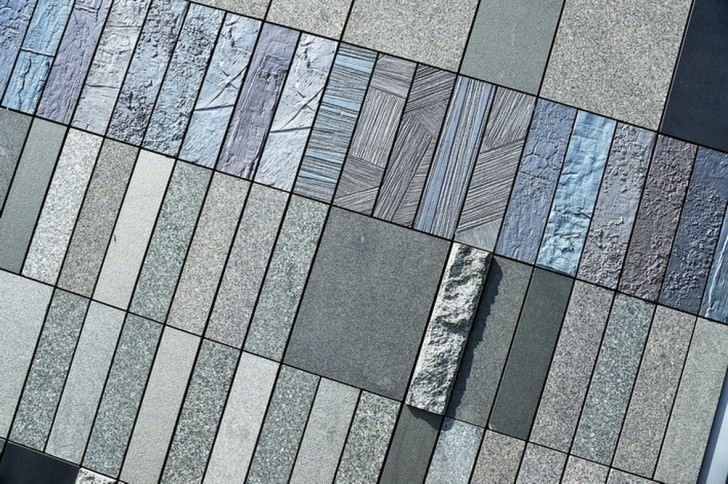 These panels of varied textures and sizes translate the musical notes and the rhythmic tempos