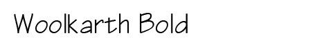 woolkarth bold font- letra para diseñador