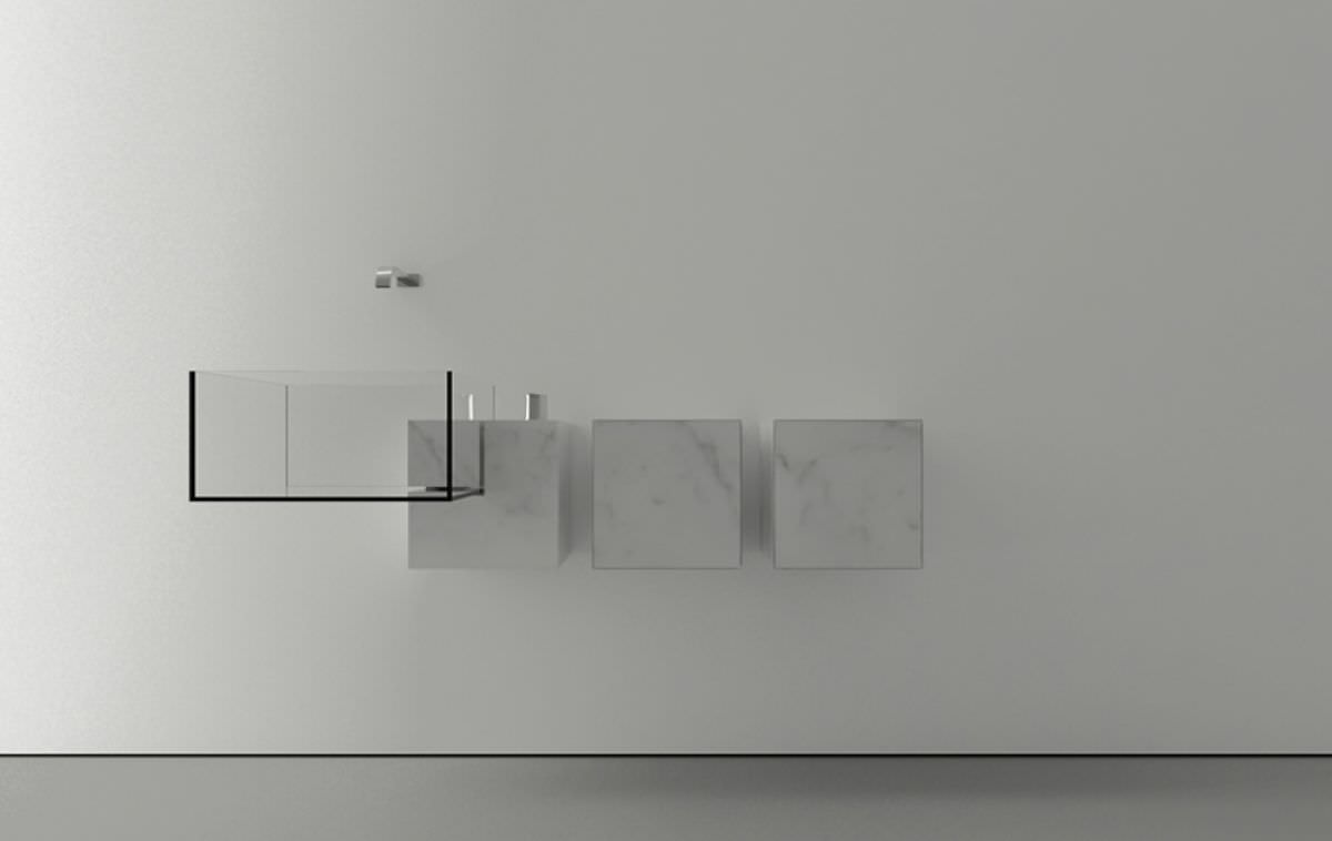 Kub 39 minimalist 39 basin by victor vasilev architect for Minimalist wall