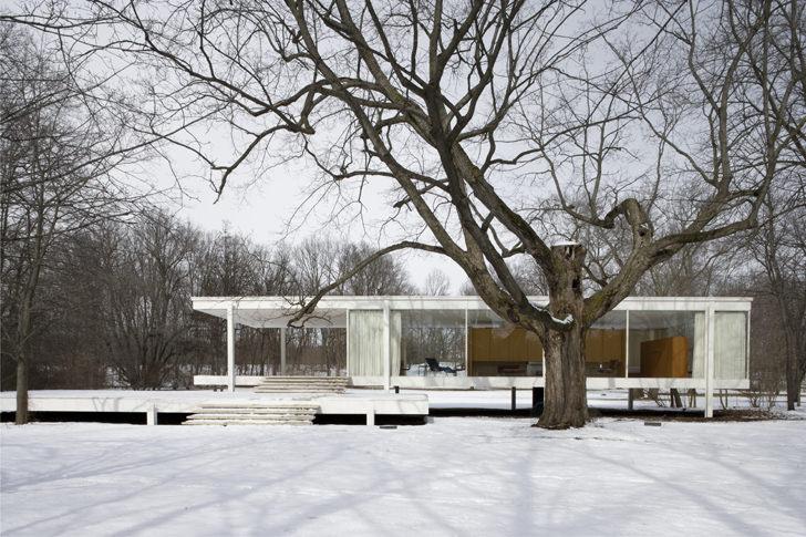 farnsworth house snow
