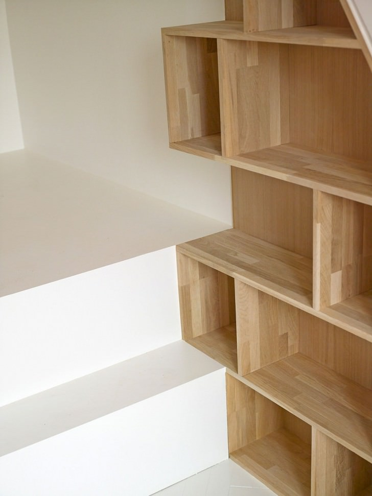 details bookshelf book rack architecture