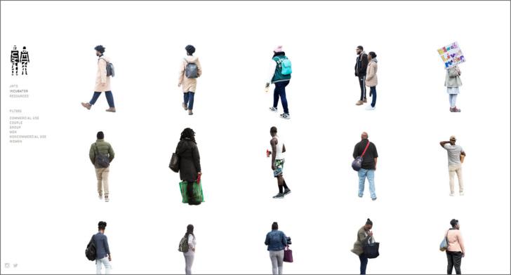 Personas para fotomontajes -Simplemente no es lo mismo