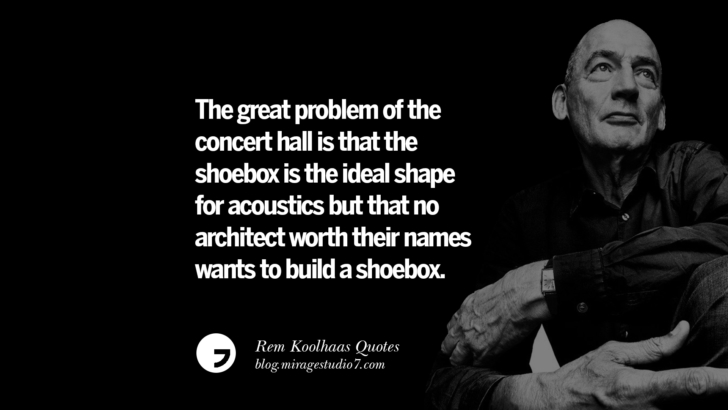 The great problem of the concert hall is that the shoebox is the ideal shape for acoustics but that no architect worth their names wants to build a shoebox.